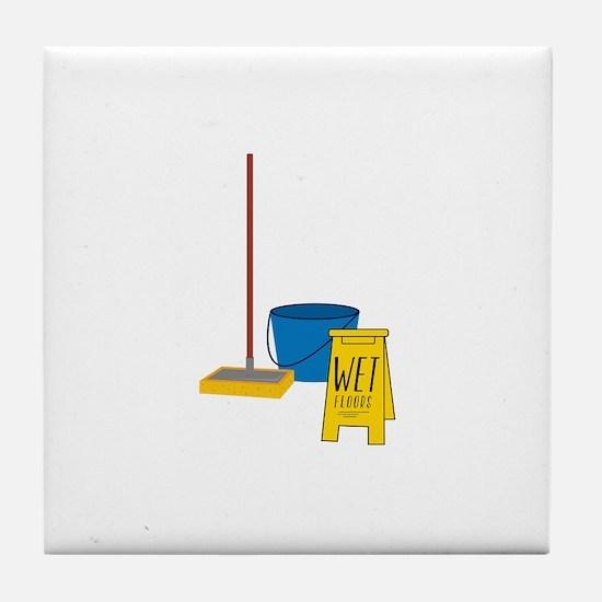 Mop Bucket Tile Coaster