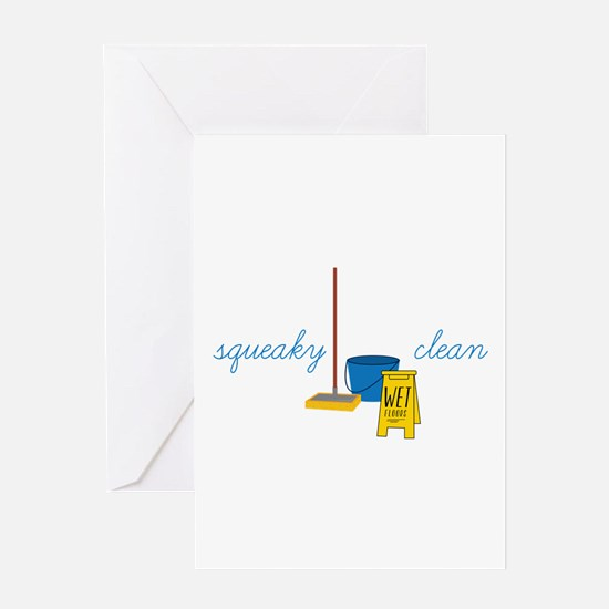 Squeaky clean Greeting Cards