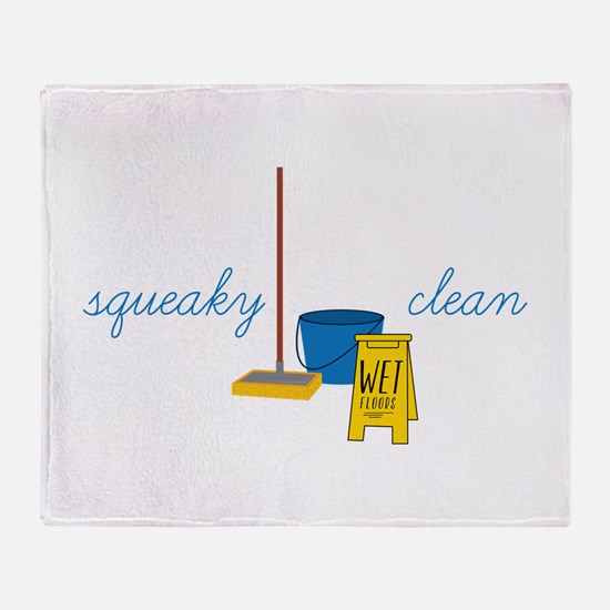 Squeaky clean Throw Blanket