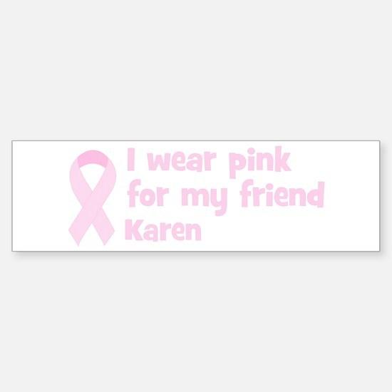 Friend Karen (wear pink) Bumper Car Car Sticker