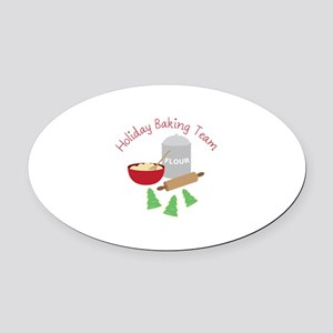 Holiday Baking Team Oval Car Magnet