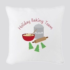 Holiday Baking Team Woven Throw Pillow