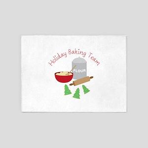 Holiday Baking Team 5'x7'Area Rug