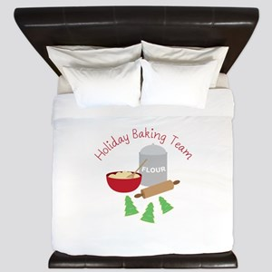 Holiday Baking Team King Duvet