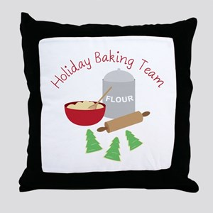 Holiday Baking Team Throw Pillow