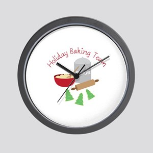 Holiday Baking Team Wall Clock