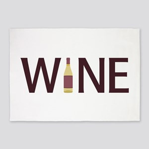 Wine Bottle 5'x7'Area Rug