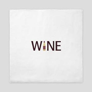 Wine Bottle Queen Duvet