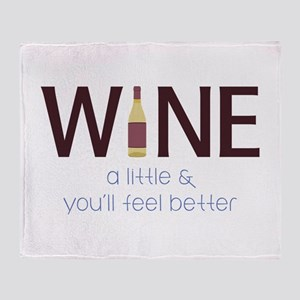 Wine a Little Throw Blanket