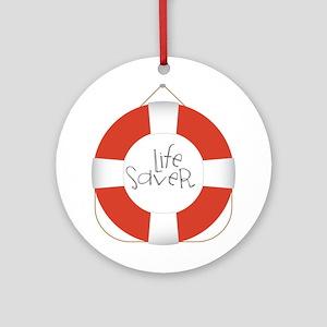 Life Saver Ornament (Round)