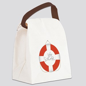 Life Saver Canvas Lunch Bag
