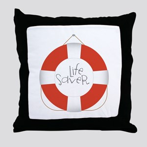 Life Saver Throw Pillow