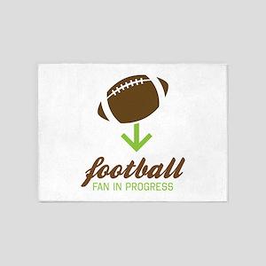 Football Fan In Progress 5'x7'Area Rug