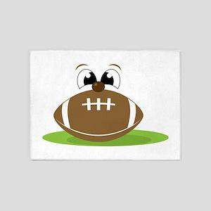 Funny Football 5'x7'Area Rug