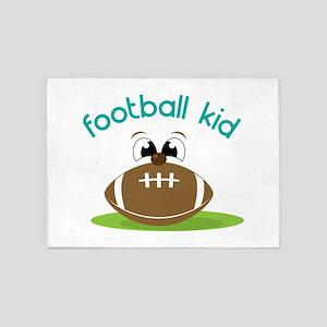 Football Kid 5'x7'Area Rug