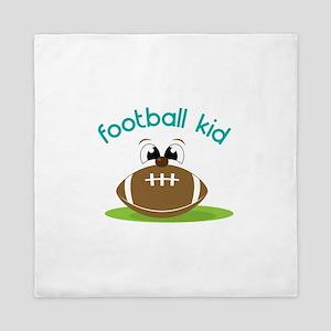 Football Kid Queen Duvet