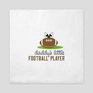 Daddy's Little Football Player Queen Duvet
