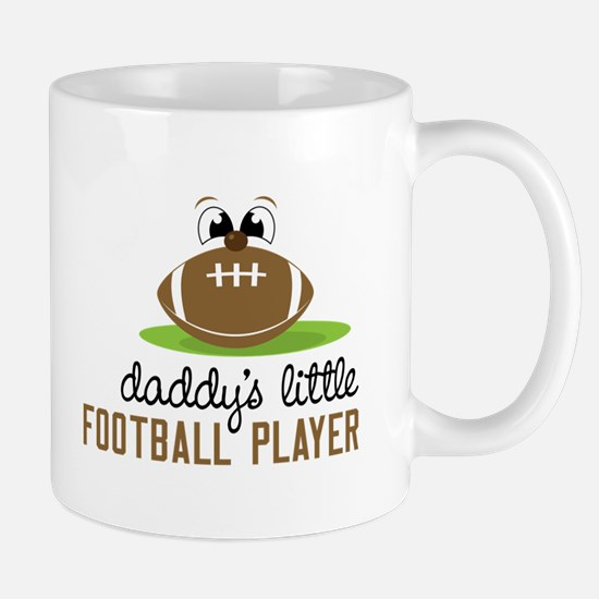 Daddy's Little Football Player Mugs