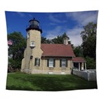 White River Light Station Wall Tapestry