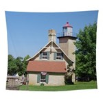 Eagle Bluff Lighthouse Wall Tapestry