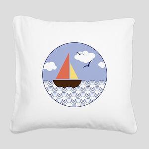 Contempo Sail Square Canvas Pillow
