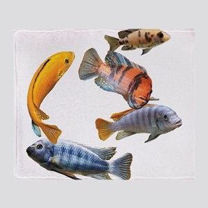 Cichlids Throw Blanket