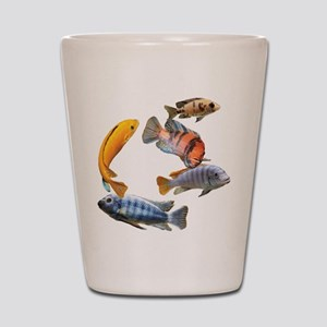 Cichlids Shot Glass