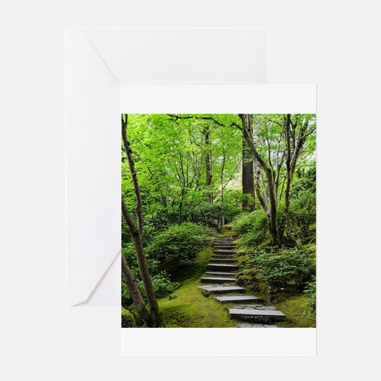 garden path Greeting Cards