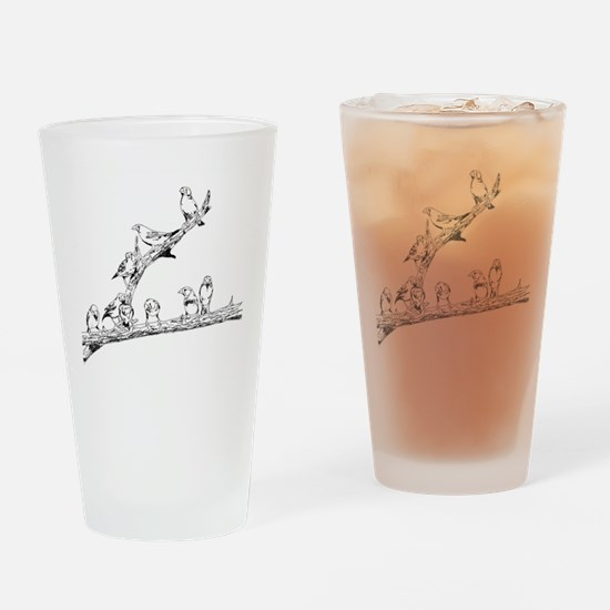 Cute Wing designs Drinking Glass