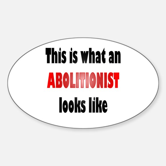 Abolitionist Oval Decal