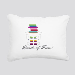Loads of Fun Rectangular Canvas Pillow