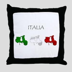 Italian Scooter Throw Pillow