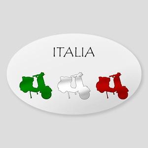 Italian Scooter Oval Sticker