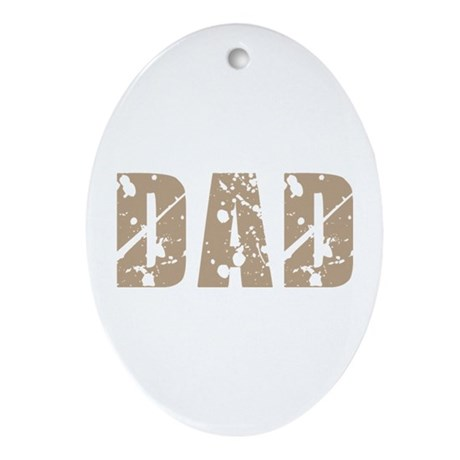 Grunge Hip Dad Father's Day Oval Ornament