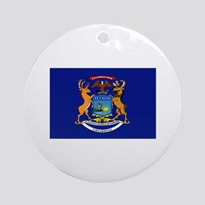 Minnesota flag Ornament (Round)