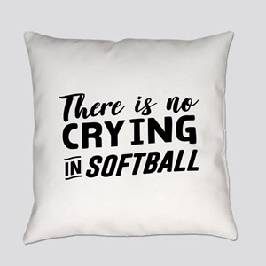 there is no crying in softball Everyday Pillow