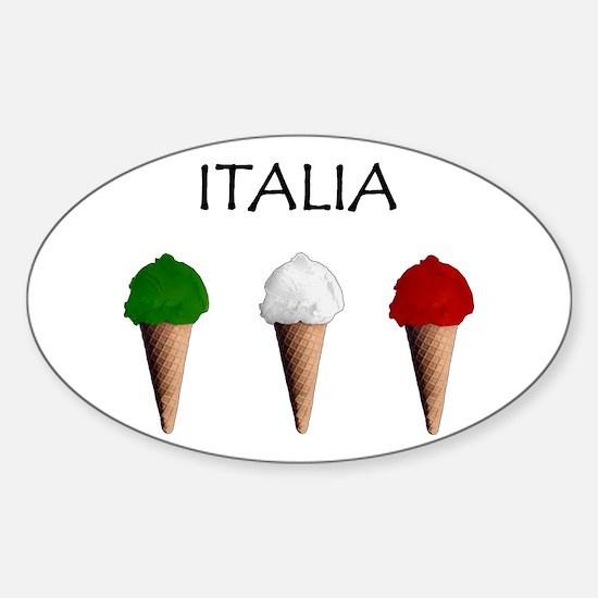 Gelati Italiani Oval Decal
