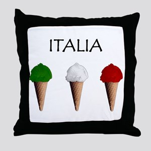 Gelati Italiani Throw Pillow