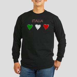 Italy Love Italian style Long Sleeve Dark T-Shirt