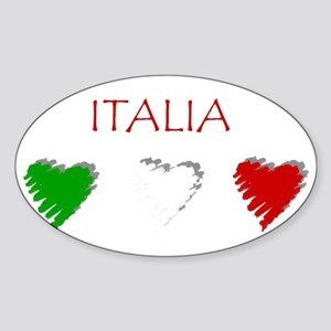 Italy Love Italian style Oval Sticker