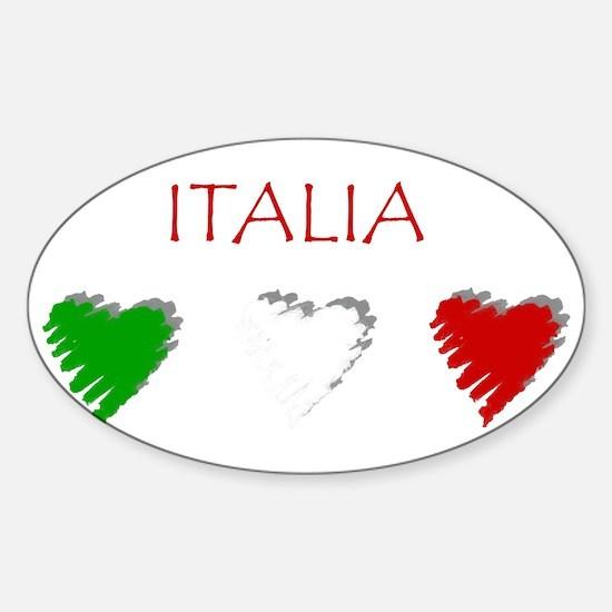 Italy Love Italian style Oval Decal