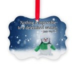 Snowman Picture Ornament Celebrates Women