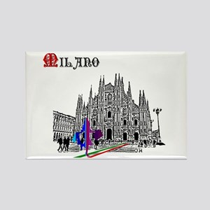 Milano Milan Italy Rectangle Magnet