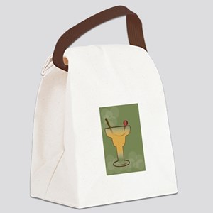 Framed Cocktail Canvas Lunch Bag