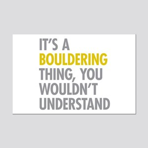 Its A Bouldering Thing Mini Poster Print