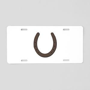 Lucky Horseshoe Aluminum License Plate