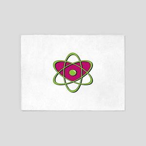 Atom Symbol 5'x7'Area Rug