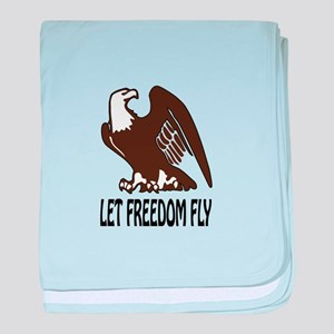 Let Freedom Fly baby blanket