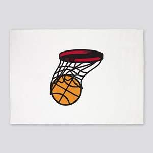 Basketball Swish 5'x7'Area Rug