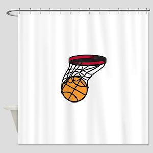 Basketball Swish Shower Curtain